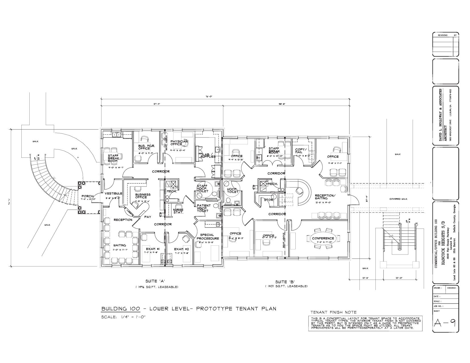 100 Office Building Floor Plans Pdf Central Air