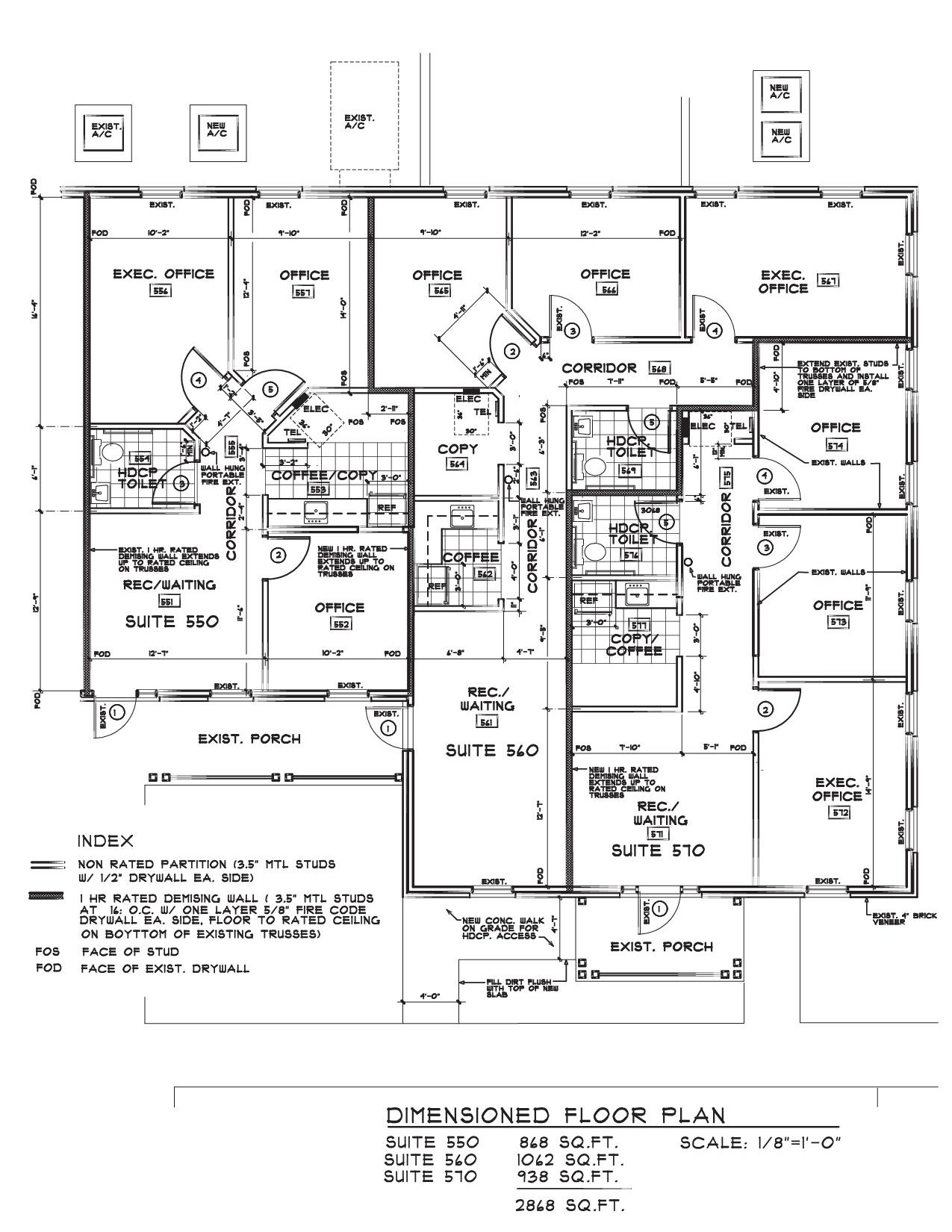 Heritage dimensions lease space design for Office design dimensions